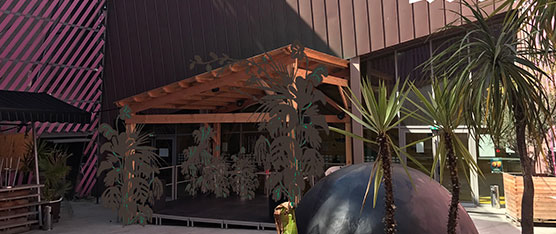 Inauguration de la nouvelle scène du patio le 5 avril